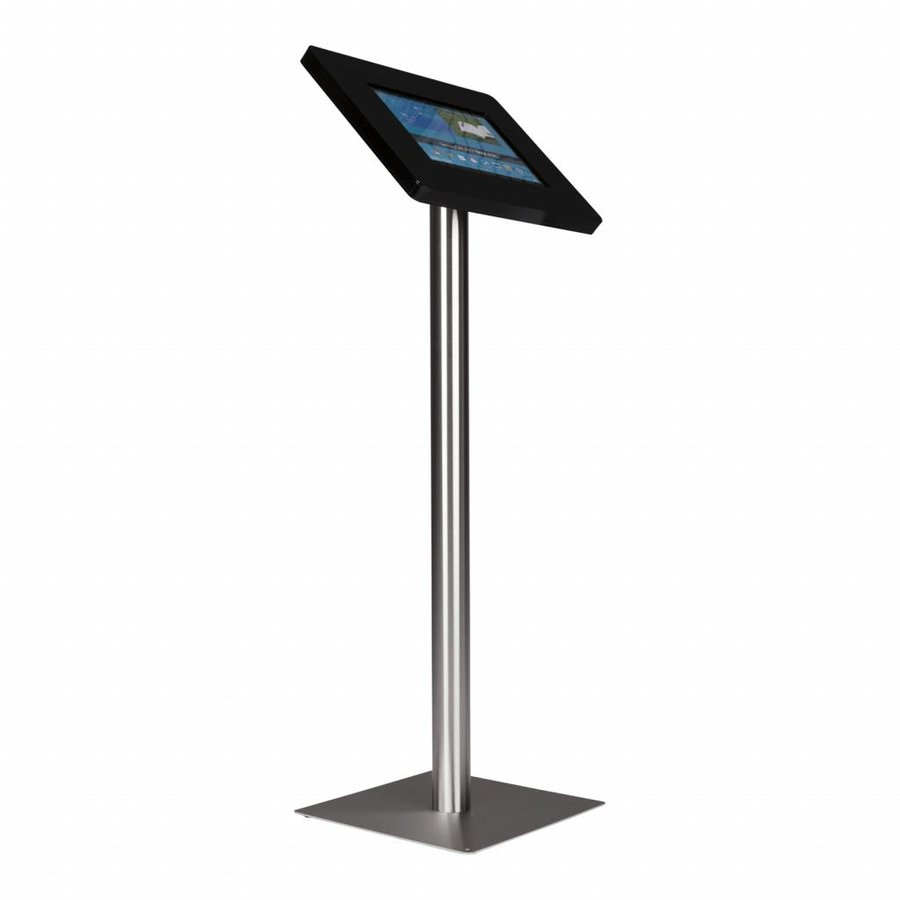 Floor stand Meglio black cassette 12-13 inch with stainless steel base