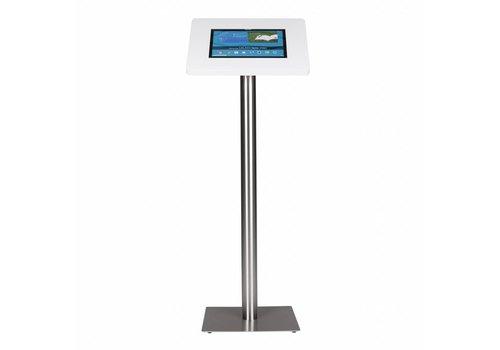 Bravour Standaard wit voor 12 tot 13 inch tablets, acrylaat cassette voet geborsteld staal/RVS