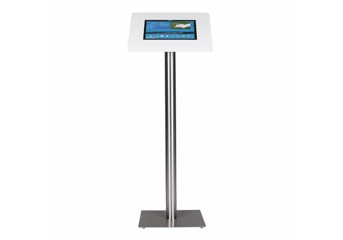 Bravour Tablet floor stand Meglio white cassette 12-13 inch with stainless steel base