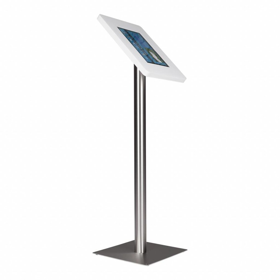 Floor stand Meglio white cassette 12-13 inch with stainless steel base