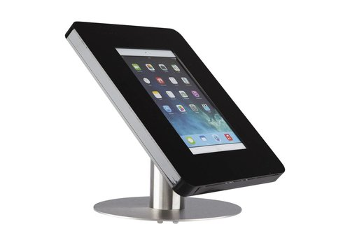 Bravour Desk stand for tablets 9-11 inch black with stainless steel base Meglio