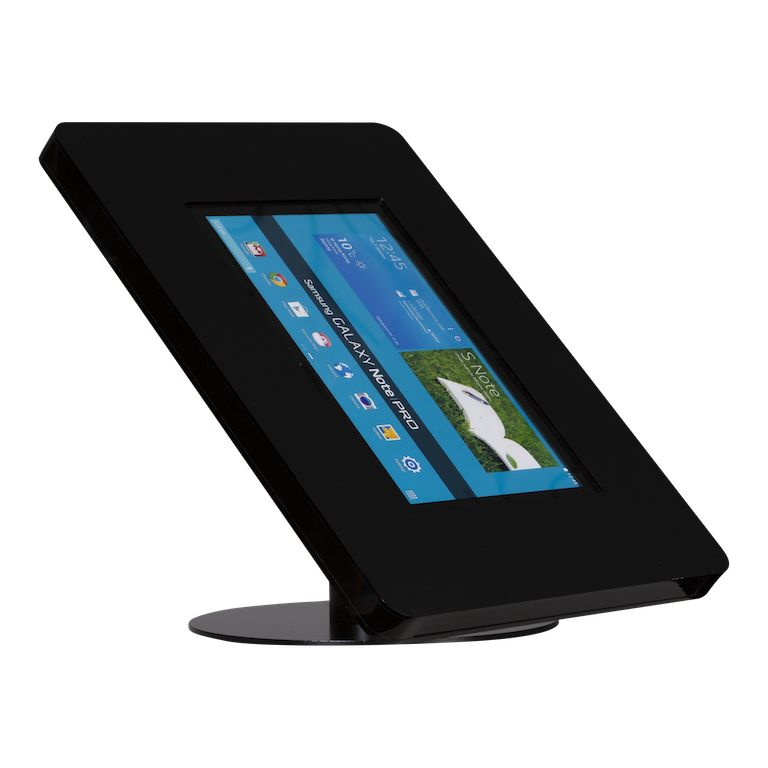 Desk stand for tablets 12 13 inch black meglio exhibishop for 13 inch table