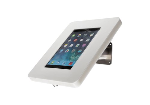 Bravour Wall or desk mount for tablets 12-13 inch white with stainless steel base Meglio