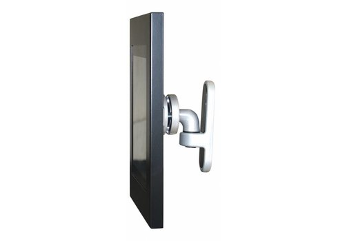 """Bravour 12-13"""" Tablet wall mount Flessibile at (125 mm, 300 mm, 450 mm) from the wall with Securo enclosure. Black"""