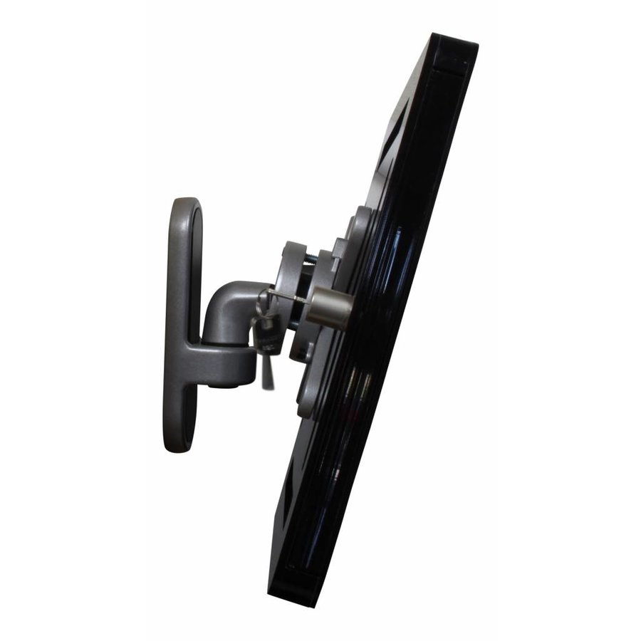 "12-13"" Tablet wall mount Flessibile at (125 mm, 300 mm, 450 mm) from the wall with Securo enclosure. black"