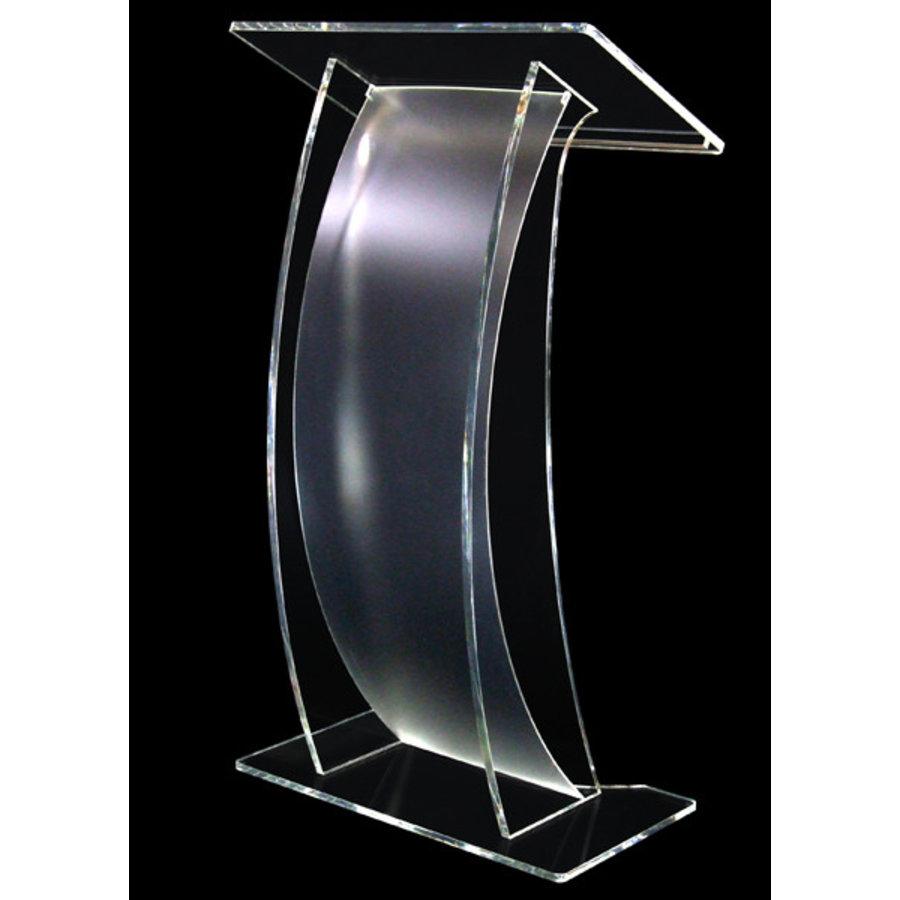 Arya - Atril en acrílico transparente, curva frontal