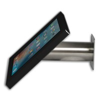 iPad mini wall or desk mount Fino black/stainless steel, with luxury acrylic tablet casing dedicated to the iPad mini.