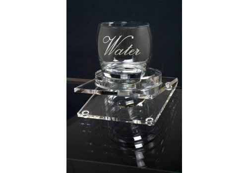 Bravour Glass holder for reading plateau on a Lectern