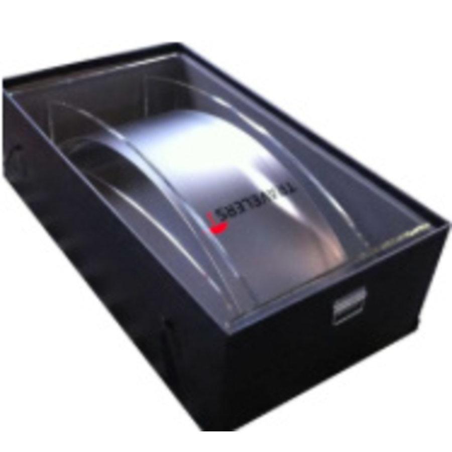 Plastic flight case for lecterns