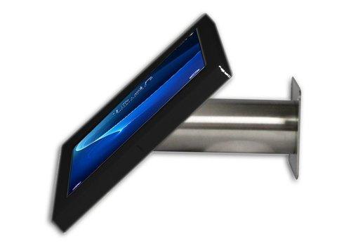 "Bravour Soporte mesa/pared Fino para Samsung Galaxy Tab A 2016 10.1"" negro/acero"