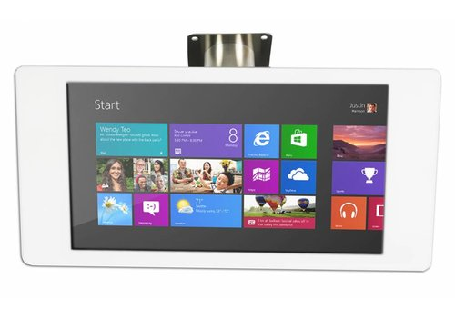 "Bravour Microsoft Surface Pro 4 12.3"" Wandhouder wit/RVS, Fino"