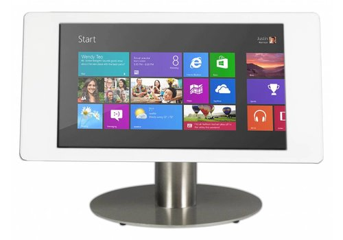 "Bravour Desk mount for Microsoft Surface Pro 4 12.3"" white-stainless steel, Fino"
