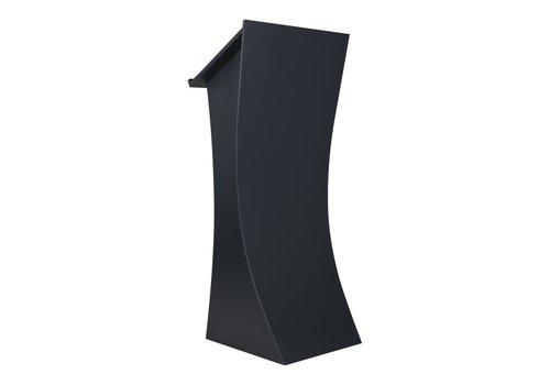 Bravour Spreekgestoelte Neptune, antraciet - Chique houten