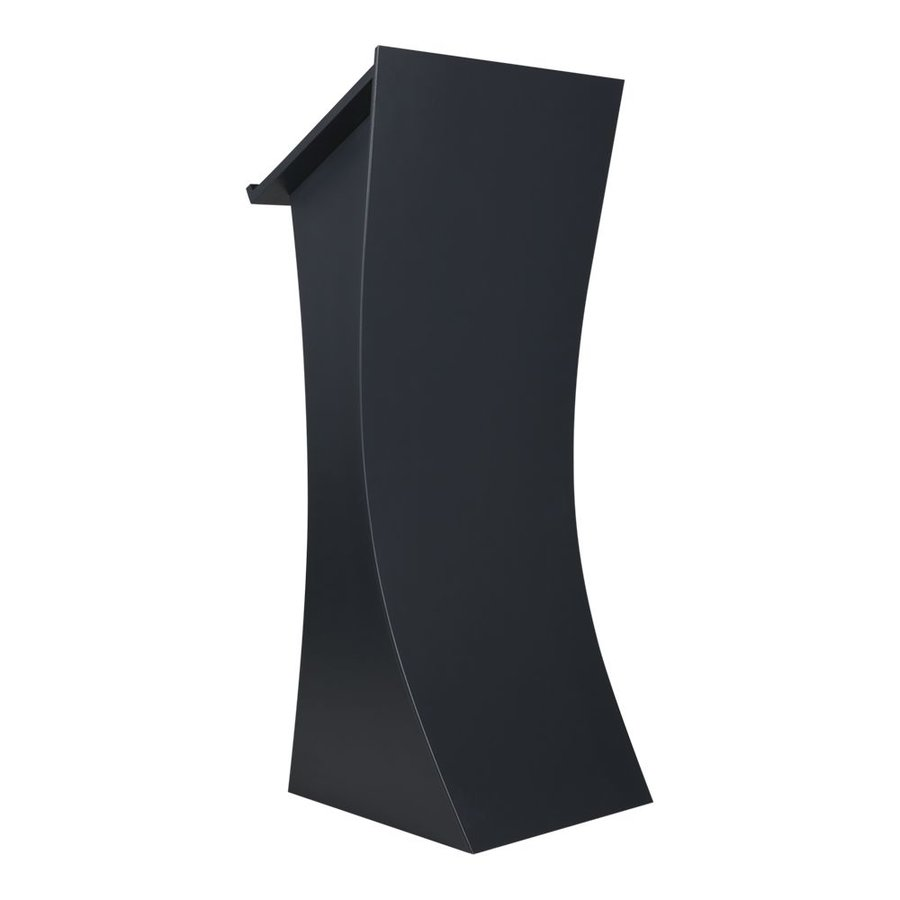 Neptune graphite - Lectern with curved frontpanel