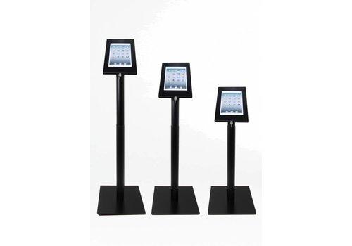 Bravour Vloerstandaard, 9-11 inch, Securo, hoogte verstelling 60-120cm, zwart, zilvergrijs, wit