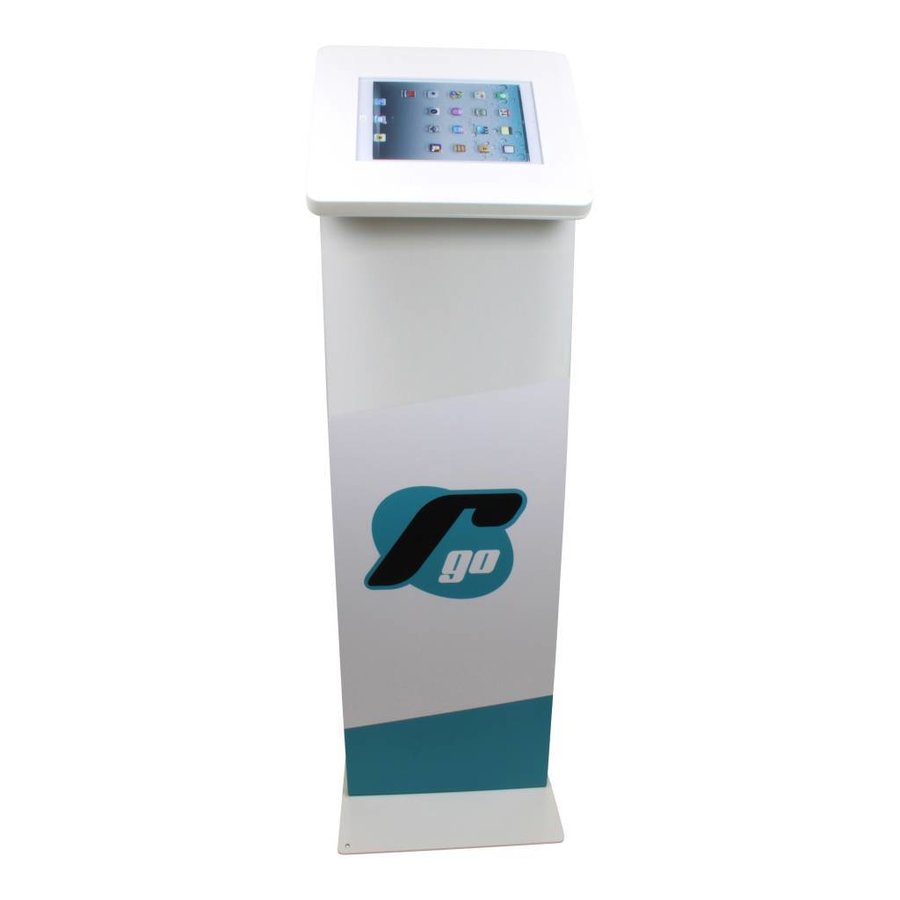 Display stand for tablets 9-11 inch white Meglio with lock