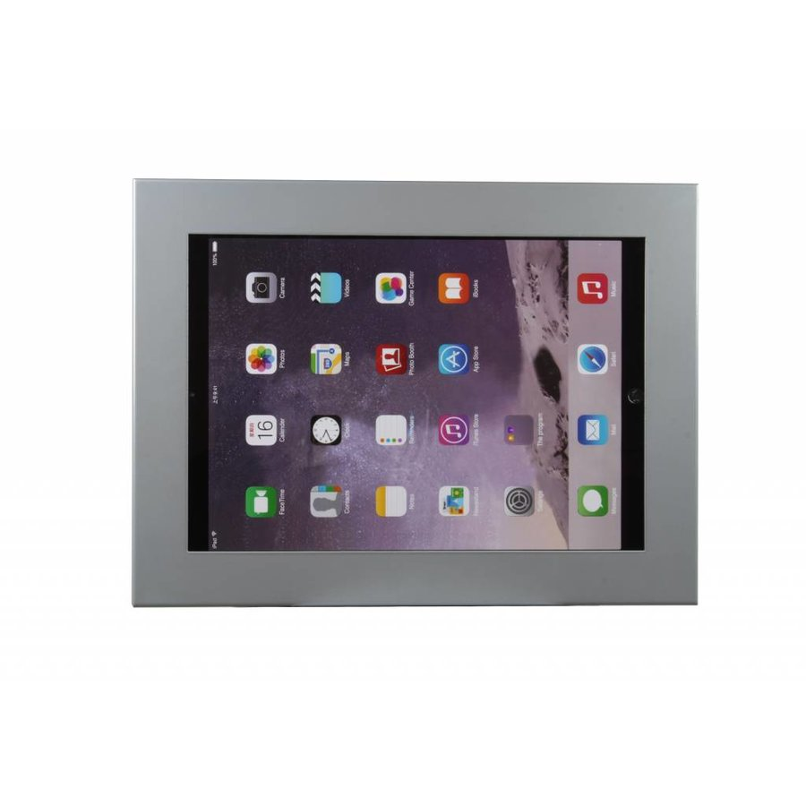 "Universal cassette for tablets between 12-13"",white, black, staninless steel and grey Securo"