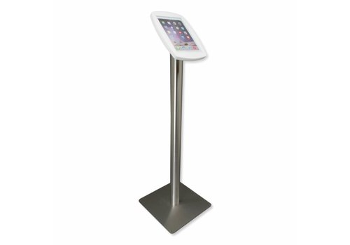 Bravour Floor stand for iPad Air, iPad Air 2, iPad Air 9,7 white-stainless steel Lusso