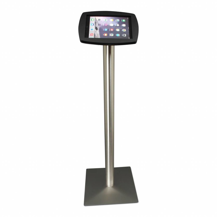 Floor stand for iPad Air, iPad Air 2, iPad Air 9,7 black-stainless steel Lusso