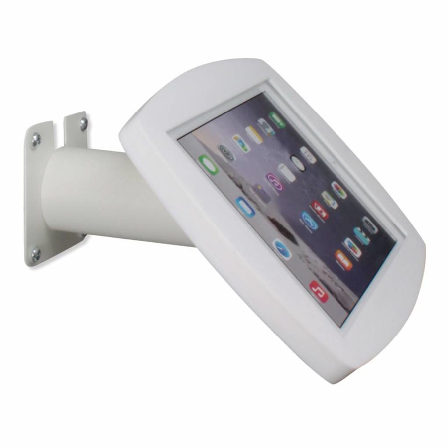 Lusso, white, iPad Air2/Pro 9,7 for mounting on table or wall, including lock