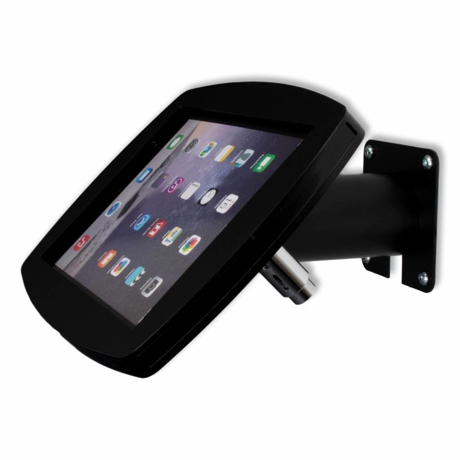 Lusso, black, iPad Air2/Pro 9,7 for mounting on table or wall, including lock