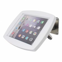Lusso, white/stainless steel, iPad Air2/Pro 9,7 for mounting on table or wall, including lock