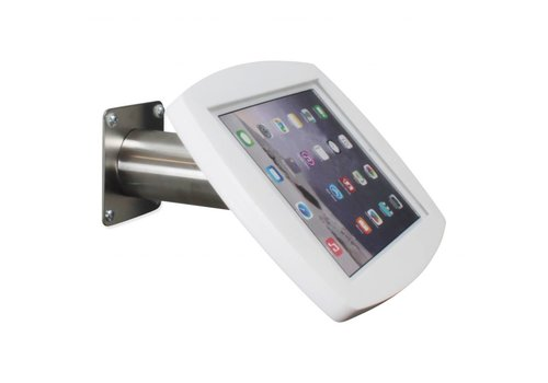 Bravour iPad casing wall/table mount, Air2/Pro 9,7 white/stainless steel, Lusso