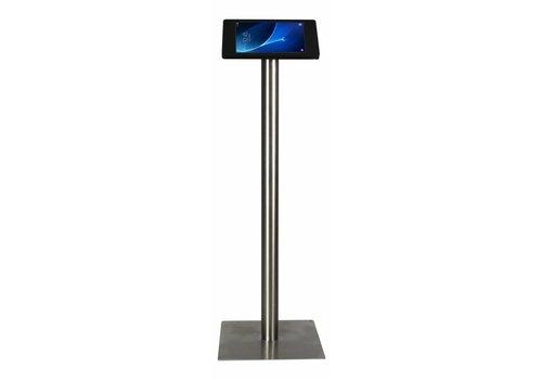 "Bravour Tablet floor stand Samsung Galaxy TAB 9.6"" black/stainless steel pedestal"