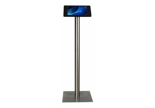 "Bravour Tablet floor stand Samsung Galaxy TAB 9.6"" white/stainless steel pedestal"
