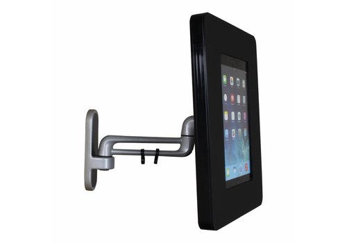 "Bravour Samsung Galaxy Tab A & S 9,7"" Wall mount Flessibile (125 mm, 300mm, 450 mm) from the wall with Fino enclosure"