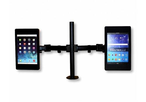 Bravour Flessibile tafel standaard voor Tablets, in hoogte verstelbaar, dubbelzijdige tablethouder