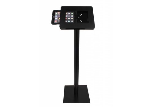 "Bravour Weatherproof tablet floor stand for tablets 9,7"" - 10,1"". White / black"