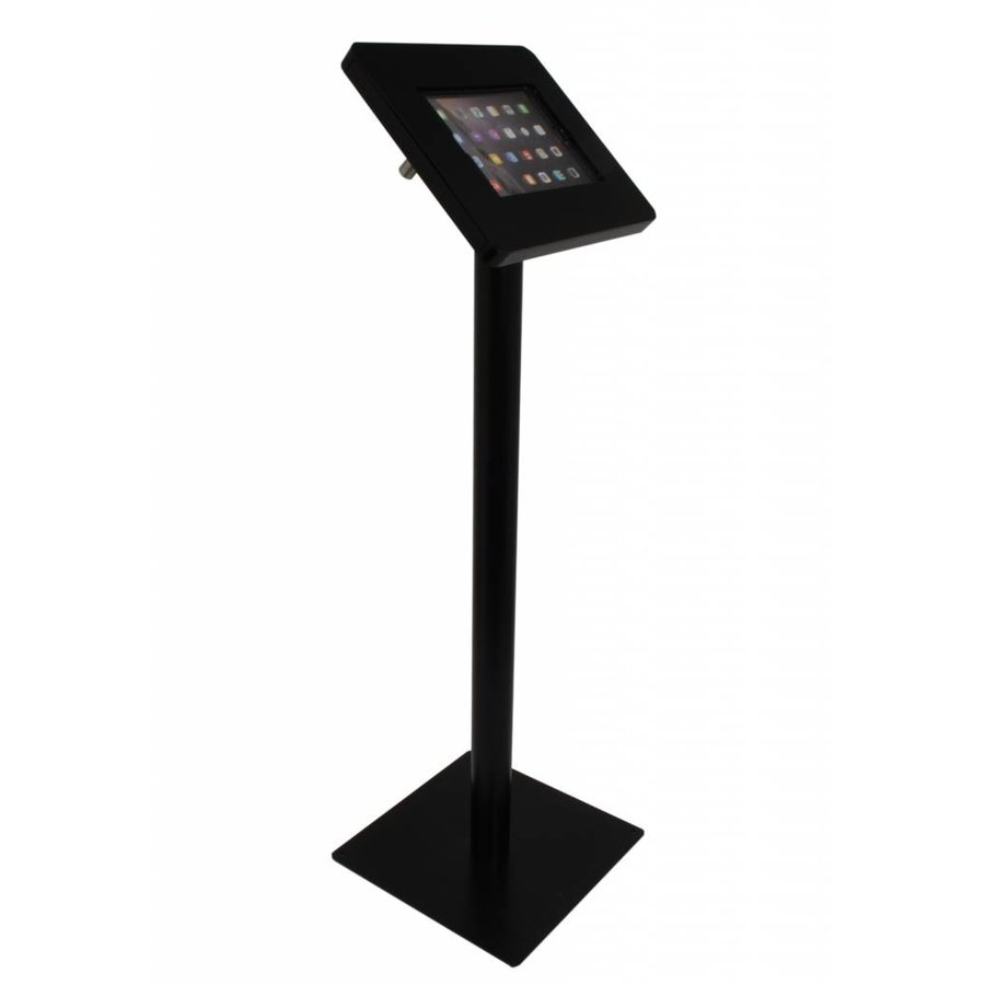 "Weatherproof tablet floor stand for tablets 9,7"" - 10,1"". White / black"