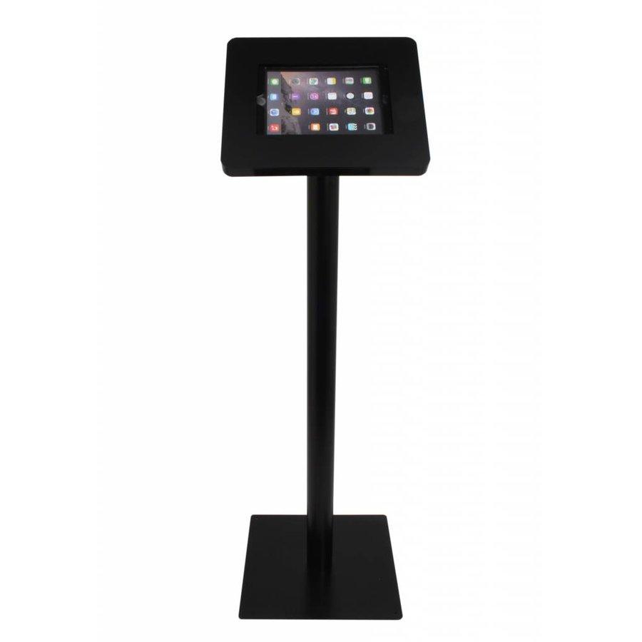 "Weatherproof tablet floor stand for tablets 9,7"" - 10,1"". White / black"