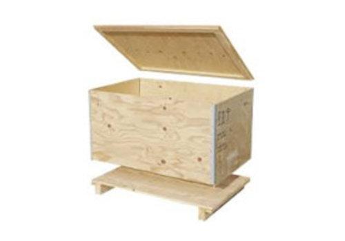 Bravour Caja de transporte madera reutilizable