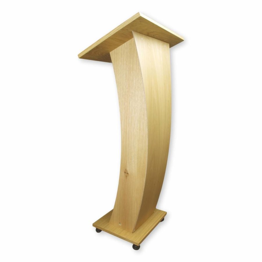 Castor - Lectern with curved front panel