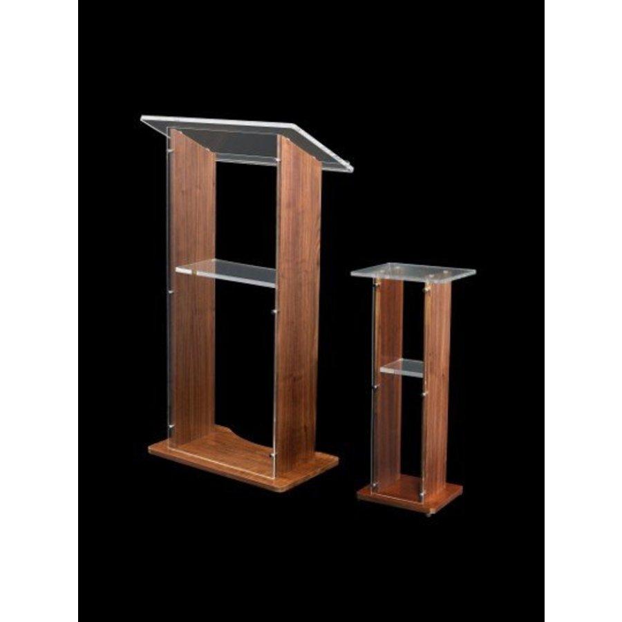 Esmeralda castaña - Hermosa combinación de madera y acrílico, madera en colores castaño,fresno y roble