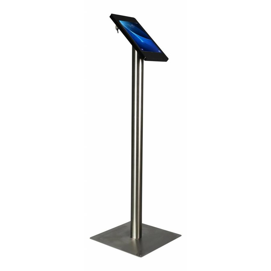 "Tablet floor stand Samsung Galaxy TAB 9.6"" black/stainless steel pedestal, Fino"