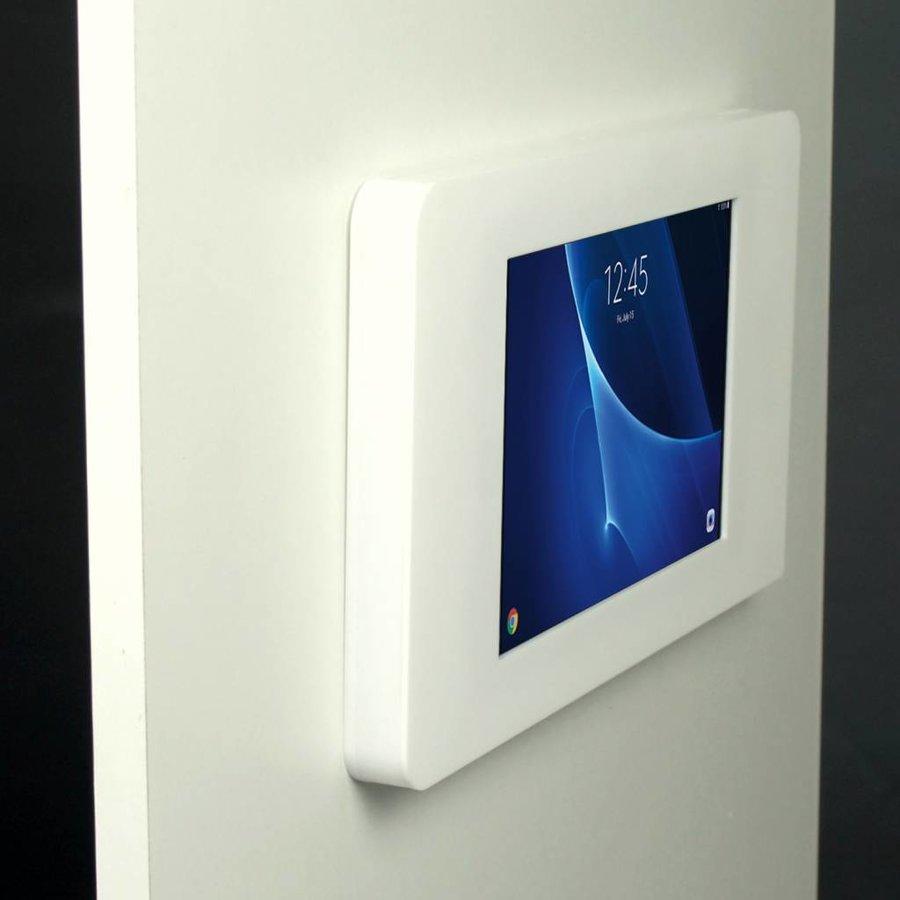 """Piatto, montaje de pared, muro para tablets Samsung Tab A 10,1"""", Samsung Tab S 9,7, Samsung Tab E 9,6, Samsung Pro 12,2, Samsung 8"""", blanco"""