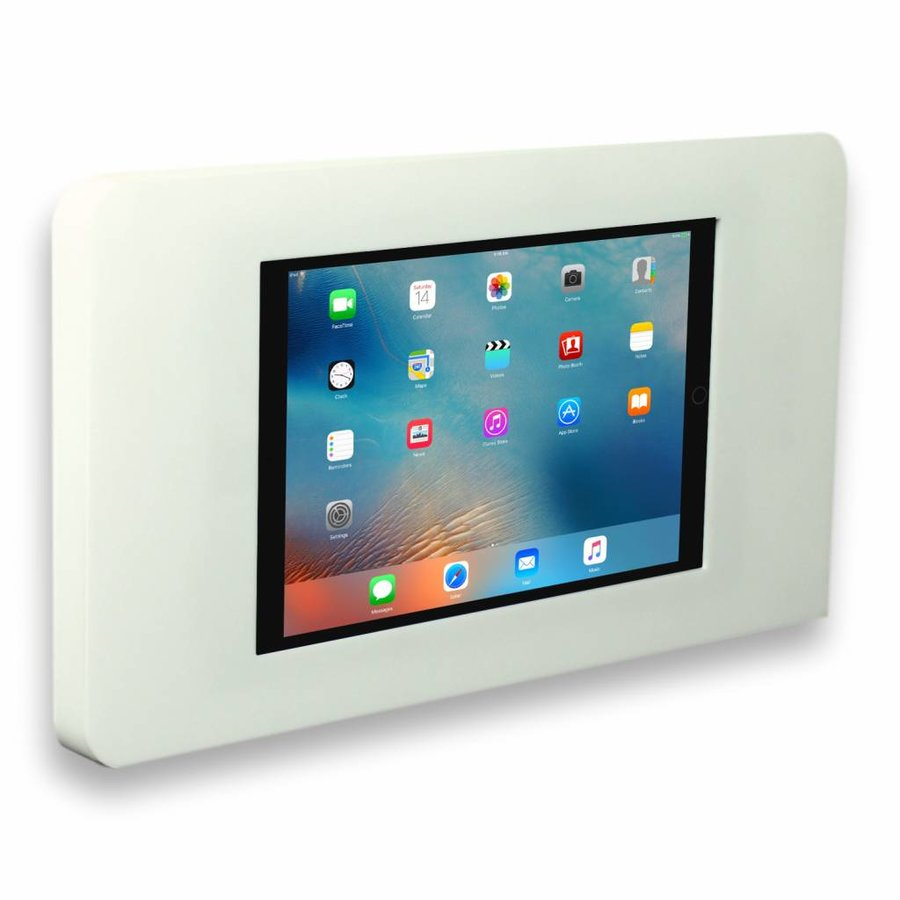 "Flat wall stand for iPad Mini, iPad 9.7"", iPad 10.5"" iPad Pro 12.9"", white, Piatto"