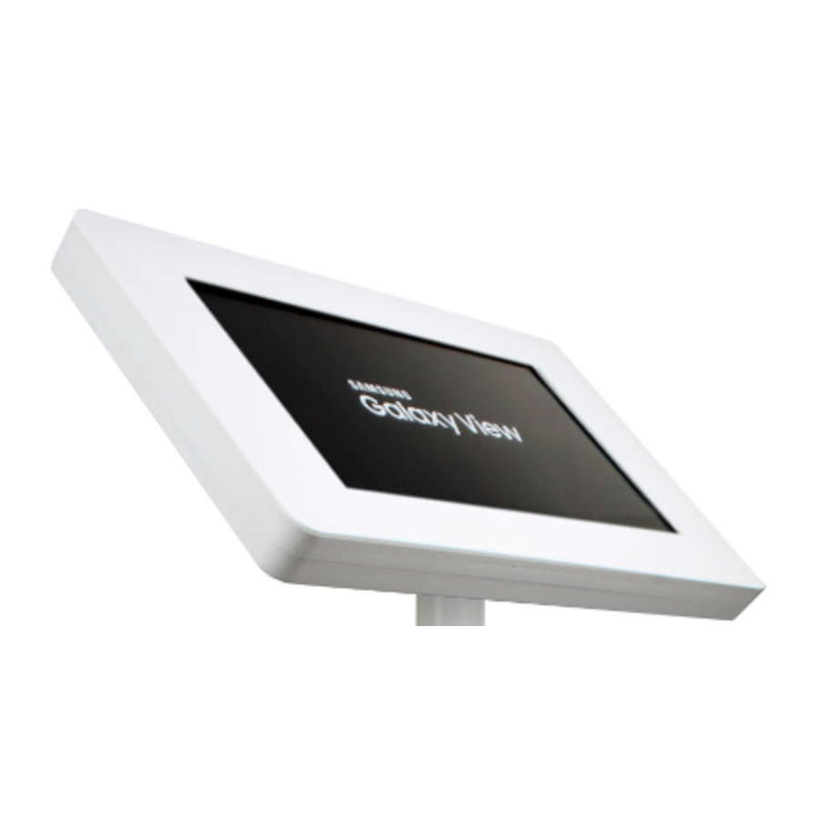 "Tablet wall or desk mount for Samsung Galaxy View 18,4"" white, black Fino"