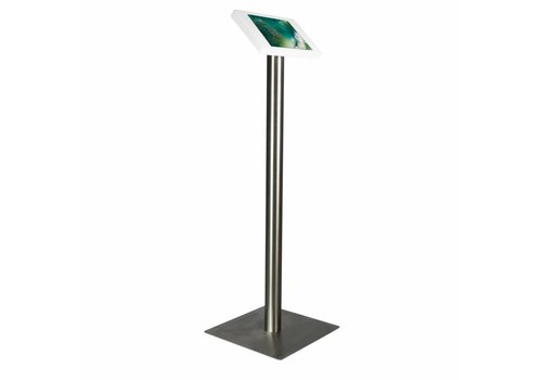 """Bravour iPad 10.5"""" Floor stand Fino - black or white cassette with stainless steel base"""