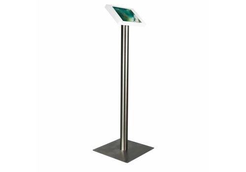 "Bravour Soporte de piso para iPad 10.5"", cassette blanco ó negro y pedestal en acero, Fino"