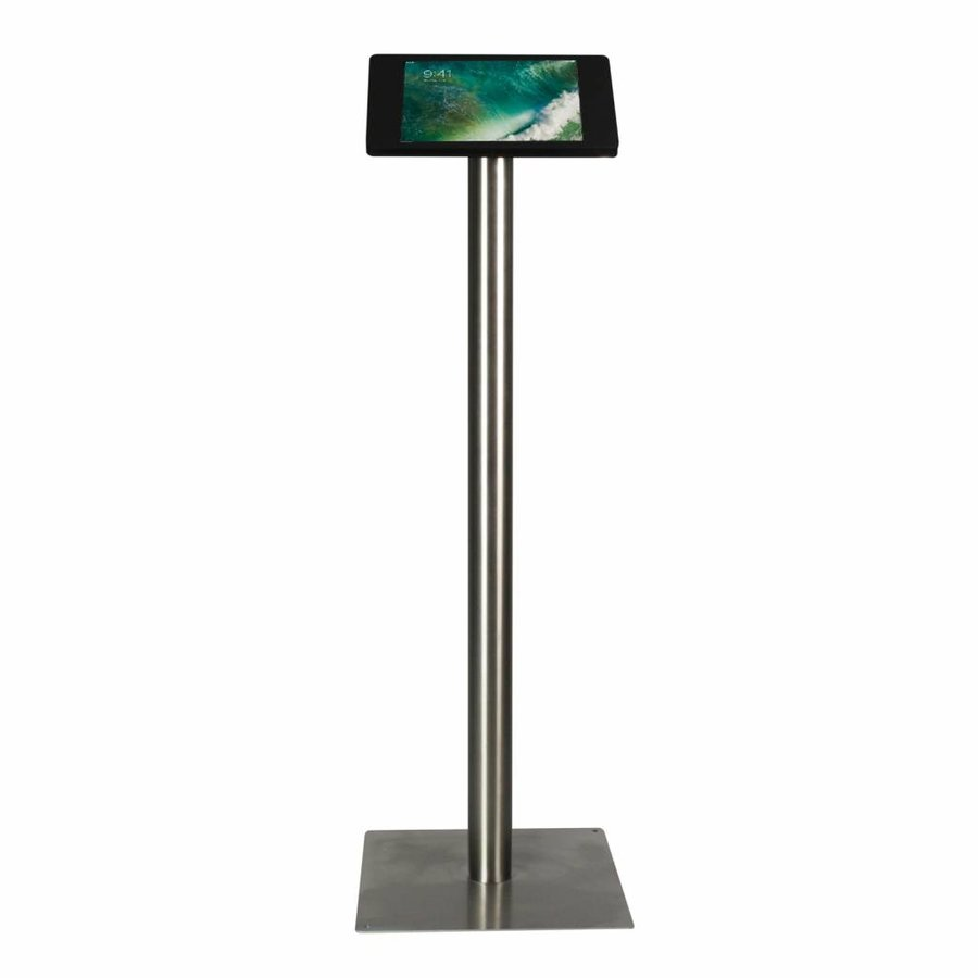 """iPad 10.5"""" Floor stand Fino - black or white cassette with stainless steel base, met lock included"""