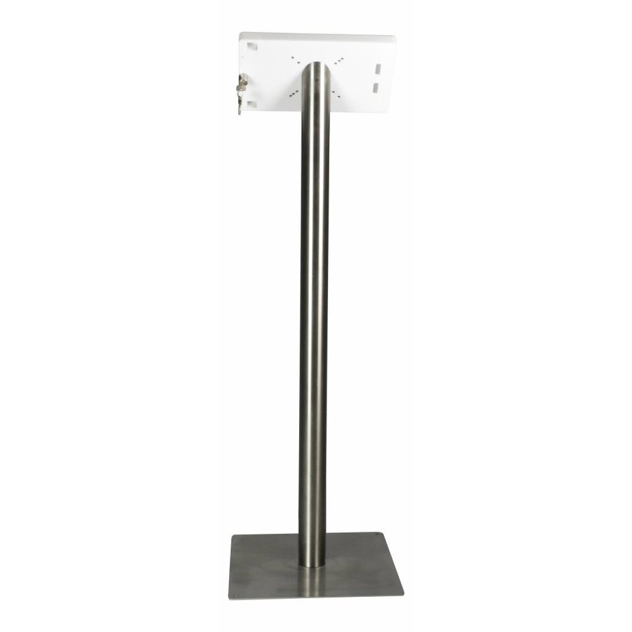 "iPad iPad 10.5"" Floor stand Fino - black or white cassette with stainless steel base, met lock included"