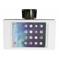 """Desk and wall stand for iPad 10.5"""" black or white casing with stainless steel base, lock included"""