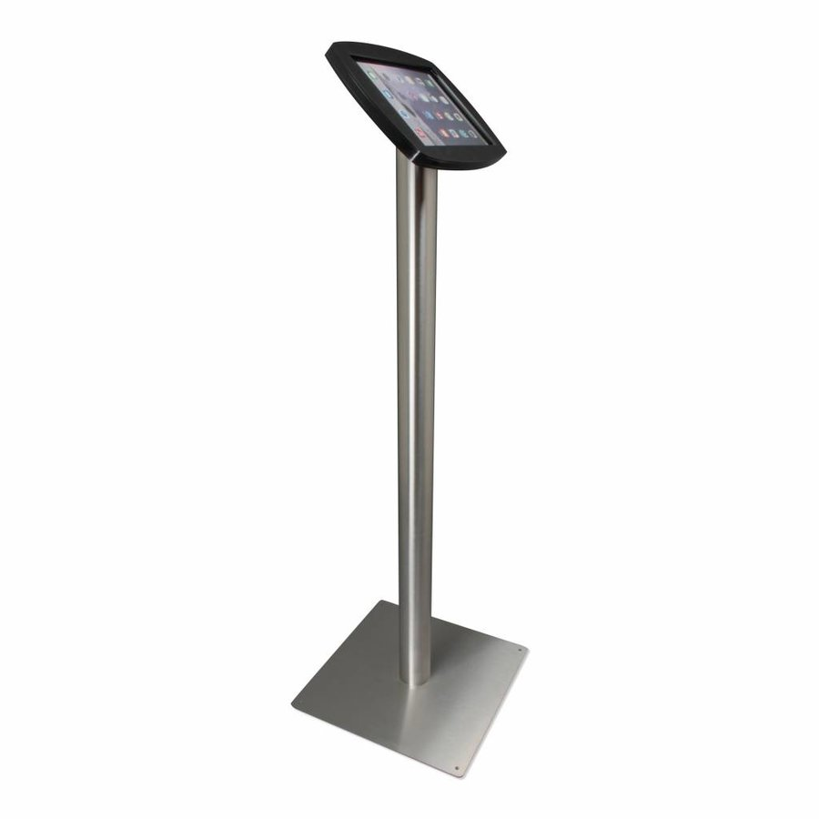 "Floor stand for iPad 10,5"" Lusso, black or white cassette with stainless steel base, met lock included"