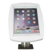 "Lusso, Desk and wall stand for iPad 10.5"" black or white casing with stainless steel base, lock included"