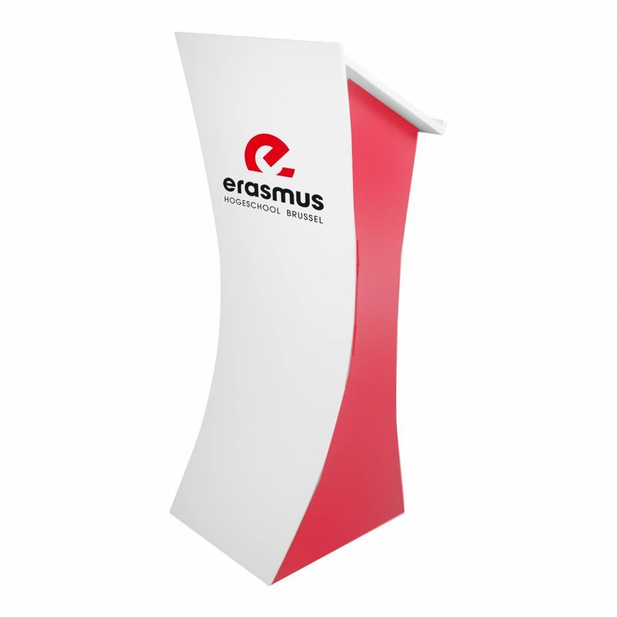 Neptune - Lectern with curved frontpanel, white