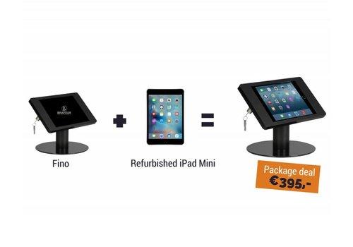 Bravour Soporte de mesa Fino + iPad Mini, negro, blanco